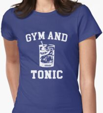 Gym and Tonic (sunny) Women's Fitted T-Shirt