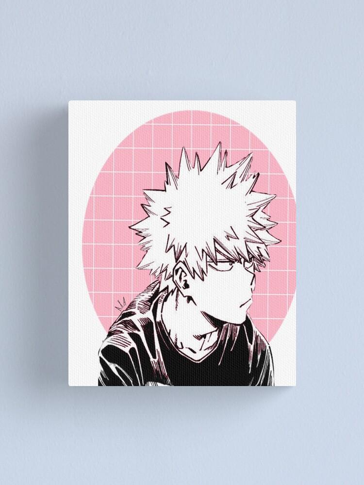 Aesthetic Bakugou Pink Canvas Print By Avaxkay Redbubble