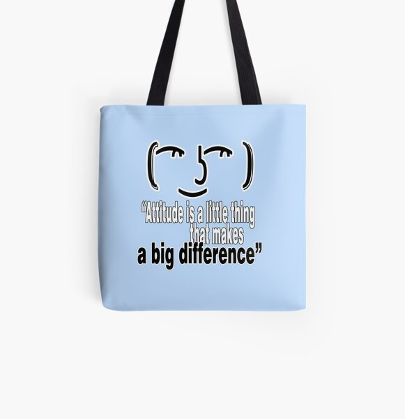 """Get Inspired. Get Motivated - """"Attitude is a little thing that makes a big difference"""" All Over Print Tote Bag"""