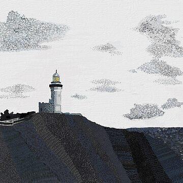 Cape Byron Light House, Byron Bay NSW- Tri Colour  by tobycentreart