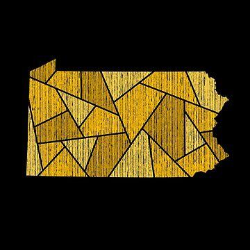 Pennsylvania Mosaic - The Burgh by DesignSyndicate