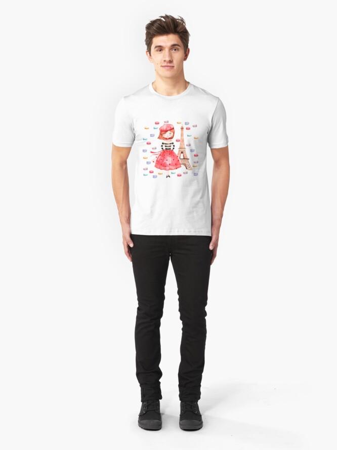 Alternate view of Paris Macarons Slim Fit T-Shirt