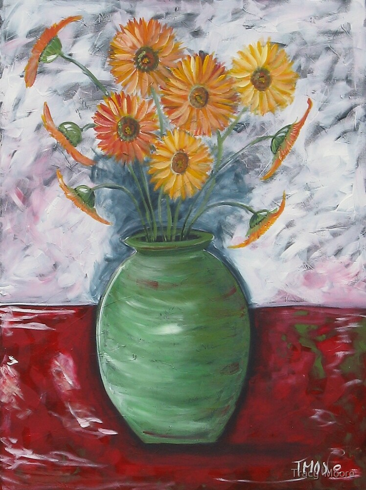 Green Vase by Tracy  Moore