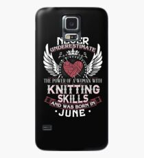 005 - JUNE KNITTING LADY Case/Skin for Samsung Galaxy