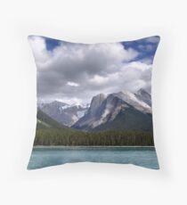 Mountains-Lake Maligne Throw Pillow