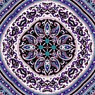 Purple Patterned Mandala by lyndseyart
