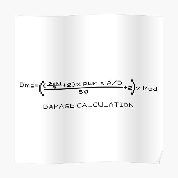 Damage Calculation Poster