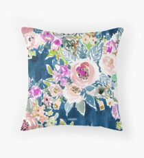 SO LUSCIOUS - NAVY Throw Pillow