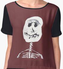 Squelette - Martin Boisvert - Faces à flaques Top mousseline