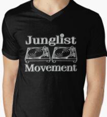 Junglist Bewegung T-Shirt mit V-Ausschnitt