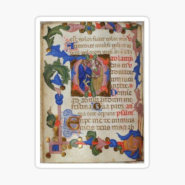 Italian book of hours, circa 1375 Sticker