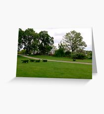Fox and Hounds Topiary Greeting Card