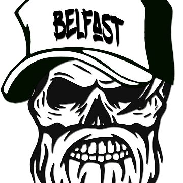 Belfast Northern Ireland Hometown Hipster Skull Trucker Cap Death by lemmy666