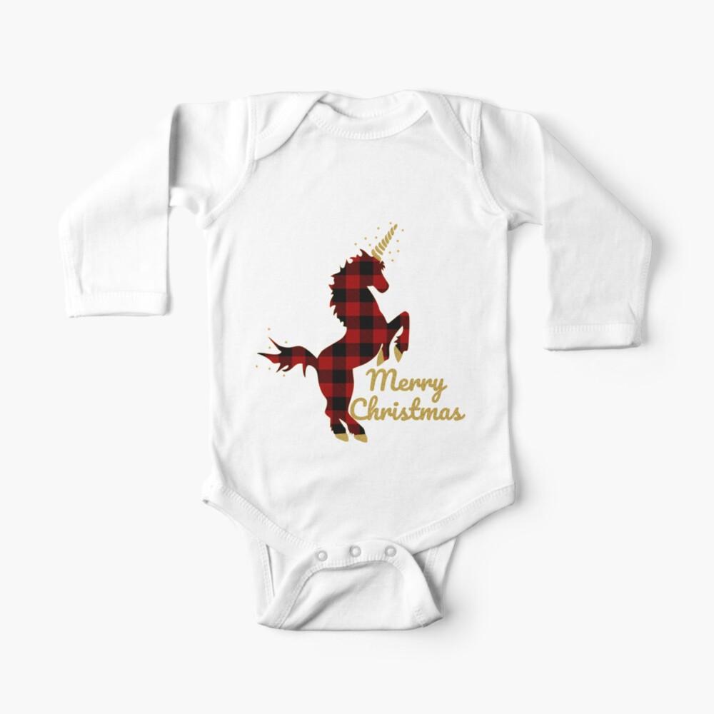 Baby Plaid Unicorn Onesie