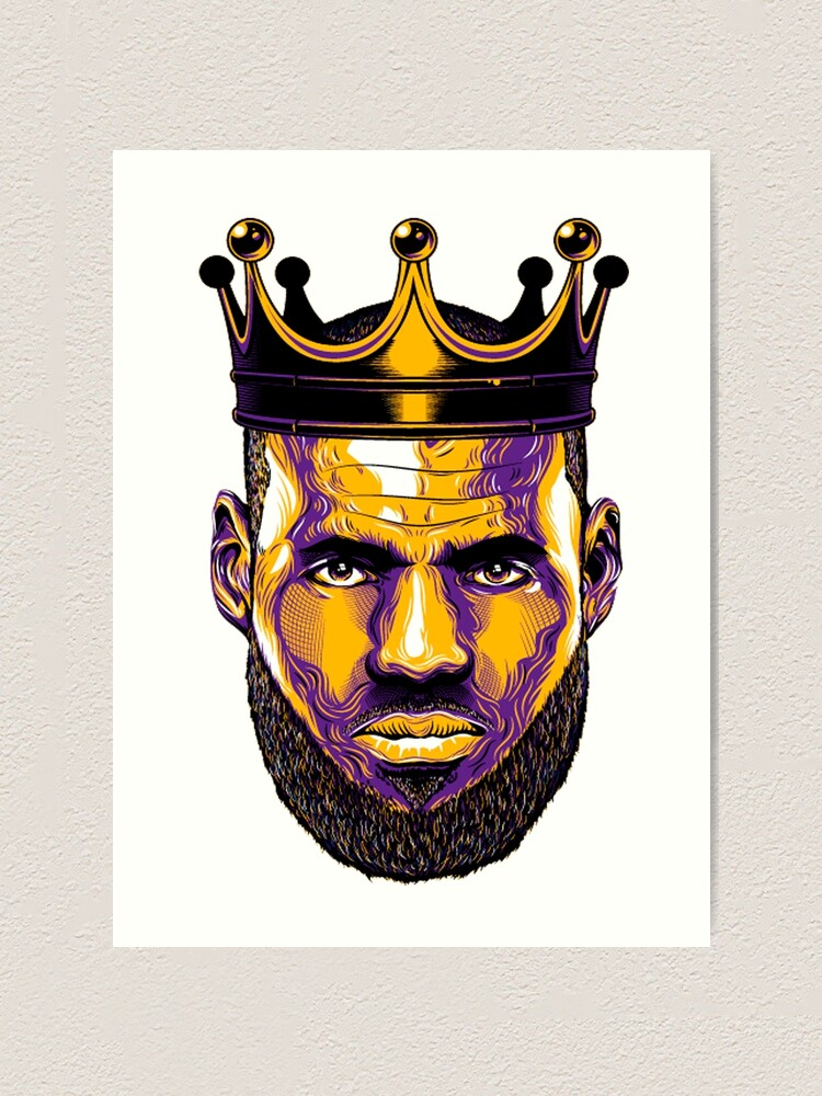 Lebron James Lakers Art Print By Rodrigo93540961 Redbubble