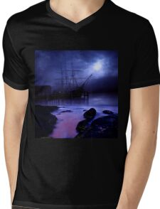 Ghost Ship Mens V-Neck T-Shirt