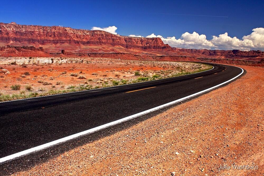 Open Road in Arizona by Julia Washburn