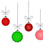 Multicolored Christmas Ornaments by SherDigiScraps
