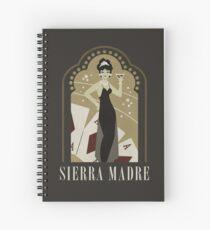 Sierra Madre Poster Design Spiral Notebook