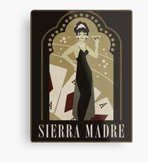 Sierra Madre Poster Design Metal Print