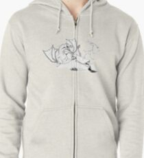 A Mighty Opponent - Ink Zipped Hoodie