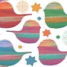 Christmas Robins II by Karin Taylor