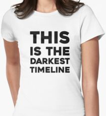 This Is The Darkest Timeline Women's Fitted T-Shirt