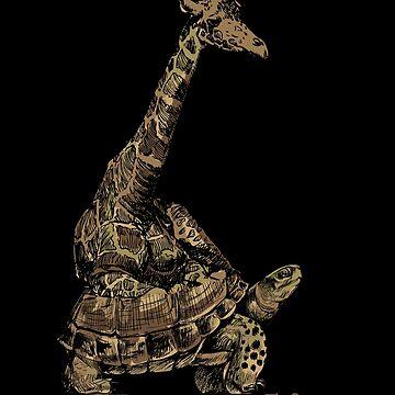 Turtle giraffe by GeschenkIdee