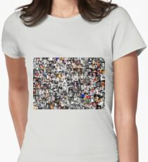 Elvis presley collage Women's Fitted T-Shirt