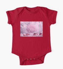 Christmas Rose With Winter Theme One Piece - Short Sleeve