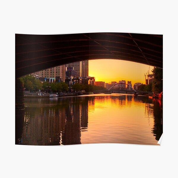 Melbourne City Sunset Poster
