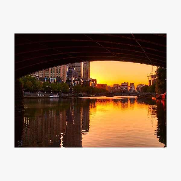 Melbourne City Sunset Photographic Print