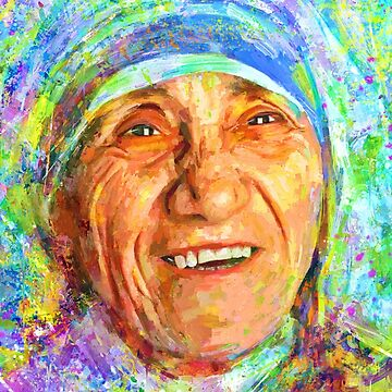 Portrait Mother Tereza by artist ILIA ADIYAKOV by ADIYAKOV