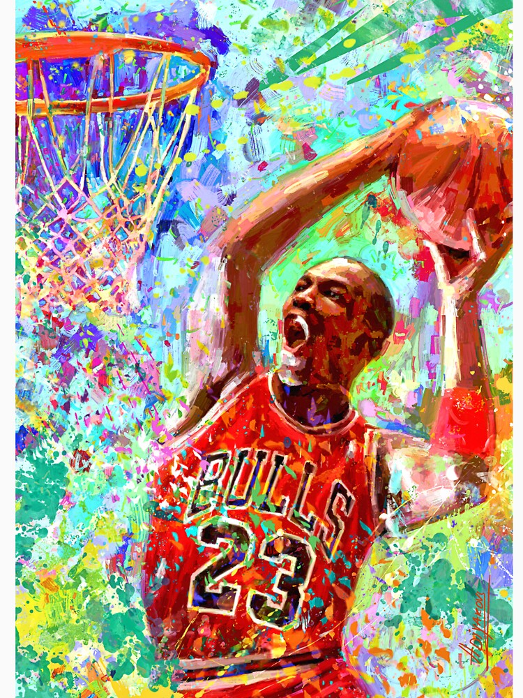 Portrait Michael Jordan dream by ADIYAKOV