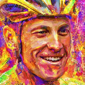 Portrait Lance Armstrong dream by ADIYAKOV