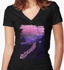 Pilz Wanderung Shirt mit V-Ausschnitt