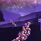 Pilz Wanderung von schwebewesen