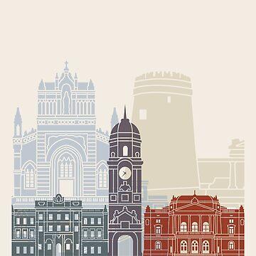 Rijeka skyline poster by paulrommer