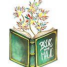 Books are magic - Flowers von Claudia Brüggen