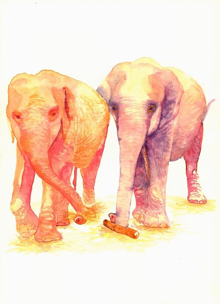 A couple of elephants by Artoutloop