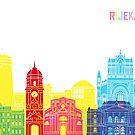 Rijeka-Skyline Pop in editierbare Vektordatei von paulrommer