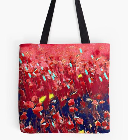 Magical poppy field Tote Bag