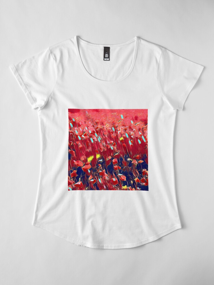 Alternate view of Magical poppy field Premium Scoop T-Shirt