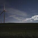 The Windmills at Night by MattGranz