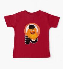 Camiseta para bebé El jefe de la mascota Gritty los Flyers.