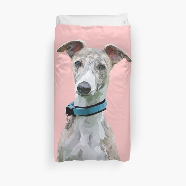 Low Poly Art - Whippet Duvet Cover