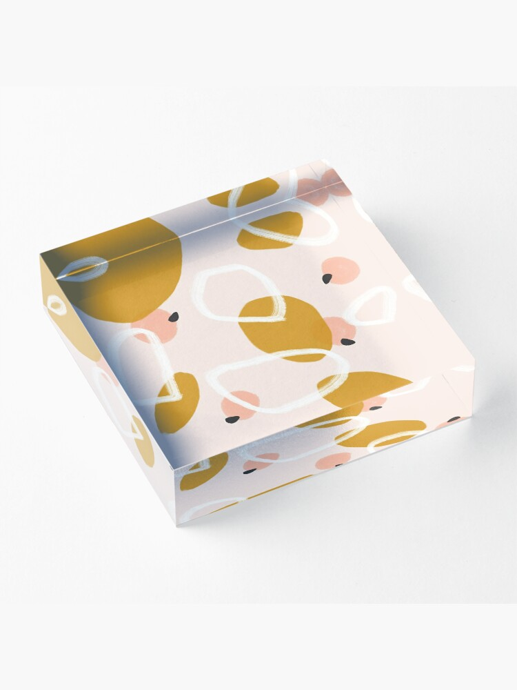 Alternate view of Abstract Fall III #redbubble #abstractart Acrylic Block