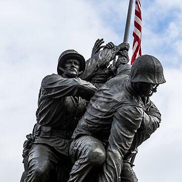 Marine Corps Memorial, Washington by Tonywallbank