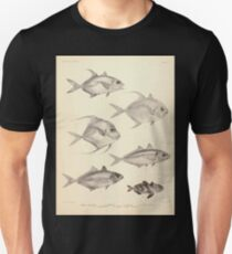 The fishes of India by Francis Day 049 - Armatus Caranx oblongus Fasciata Gallus Leptolepis_ Unisex T-Shirt