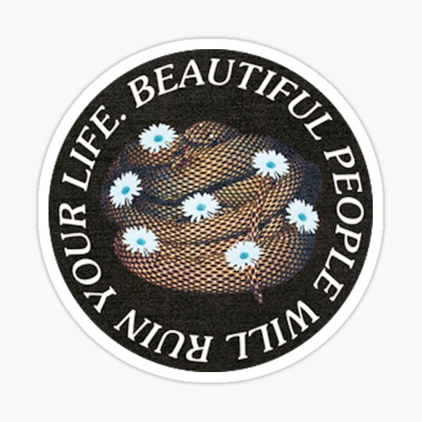 the wombats beautiful people will ruin your life Sticker